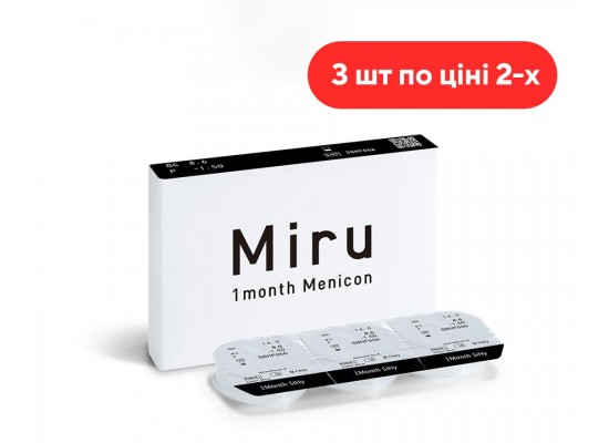 Конактные линзы Miru 1 Month Menicon