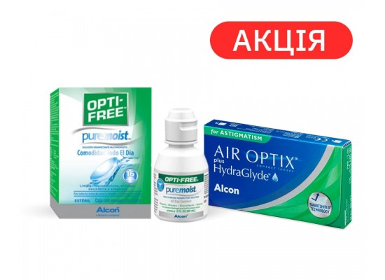Контактные линзы Alcon Air Optix plus Hydraglyde Toric